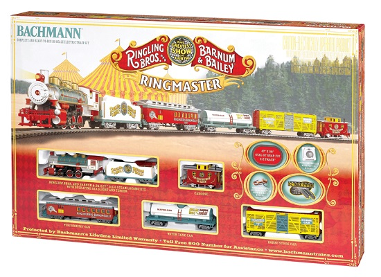 Bachmann 00714 HO-Scale Ringling Brothers and Barnum and Bailey Ringmaster Circus Set