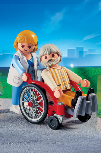 Playmobil 4226 Nurse with Patient in Wheelchair