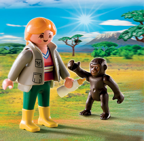 Playmobil 4757 Zoo Keeper with Baby Gorilla