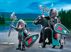 Playmobil 4873  2-Robber Knights with Horse