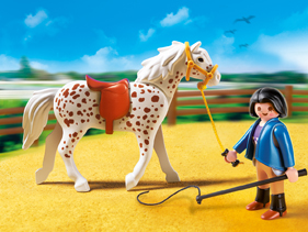 Playmobil 5107 Knabstrupper with Trainer and Stable