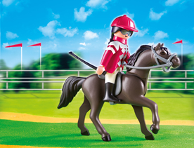 Playmobil 5112 Arabian Horse with Jockey and Stable