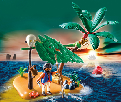 5138PM Playmobil Pirate Castaway on Palm Island