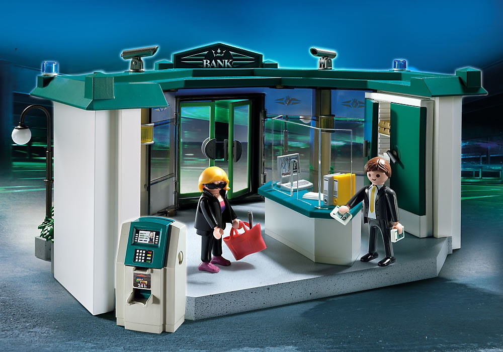 5177PM Playmobil Bank with Safe and Robber