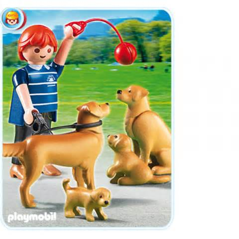 5209PM Playmobil Golden Retriever and Puppies
