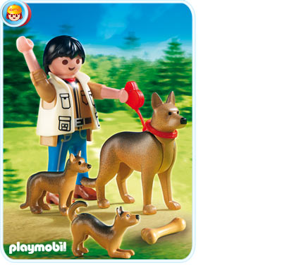 5211PM Playmobil German Shepherd with Puppies