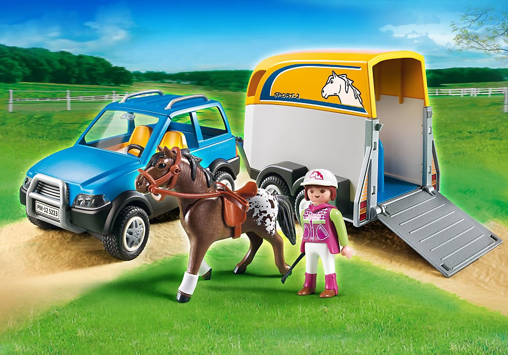5223PM Playmobil SUV with Horse Trailer