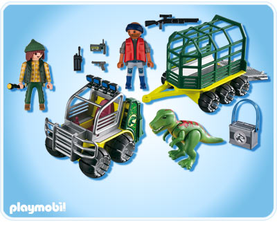 Playmobil 5236 Transport Vehicle with Baby T-Rex Dinosaur