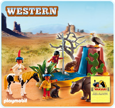 Playmobil 5252 Native American Children with Bear Cave and Water Hole