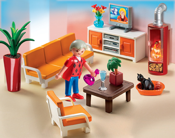 5332PM Playmobil Living Room with Lighted Fireplace