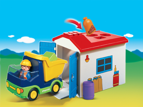 Playmobil 1 2 3 6759 Truck with Garage and Load