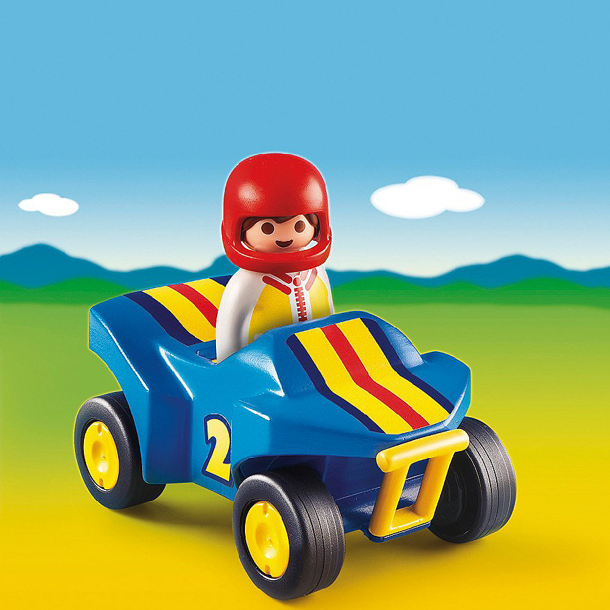 Playmobil 1 2 3 6782 Race Car and Driver