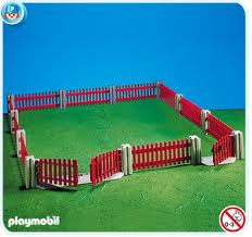 7292PM Playmobil Brown Garden Fence
