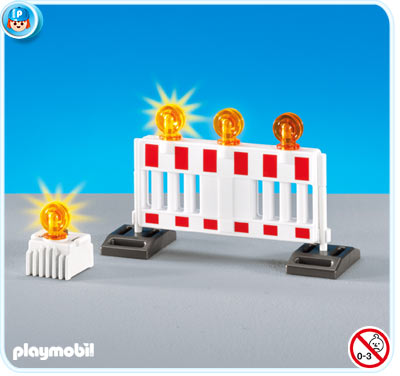 Playmobil 7453 Barricade and Warning Signs