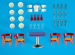7584PM Playmobil Modern Dining Room Furniture