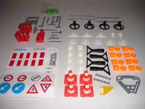 Playmobil 7710 Construction Accessories - Warning Cones, Signs, Shovals