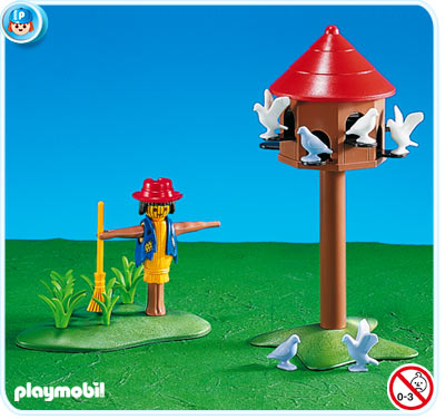 7752PM Playmobil Pigeon Loft and Scarecrow
