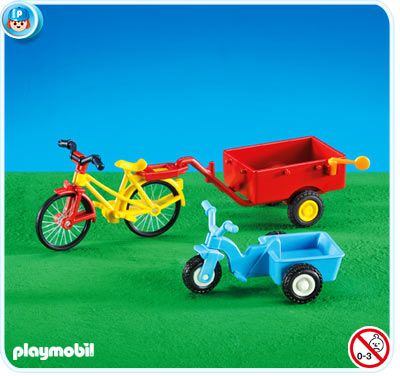 7754PM Playmobil Childs Tractor and Tank Cart