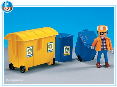 7860PM Playmobil Sanitation Worker with 3 Bins