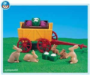 7863PM Playmobil Bunnies and Wagon