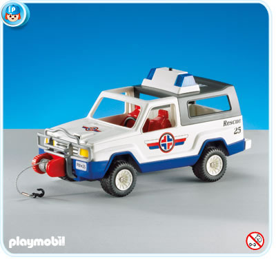 7949PM Playmobil Rescue Jeep with Flashing Lights