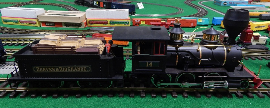 LGB 2018D Special Black Painted DSP PRR Mogul Locomotive